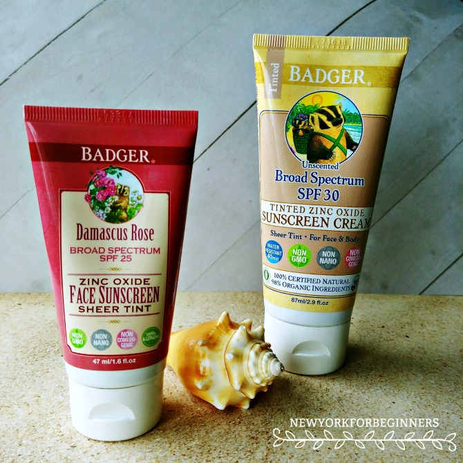 Badger nontoxic physical sunscreens review at New York For Beginners