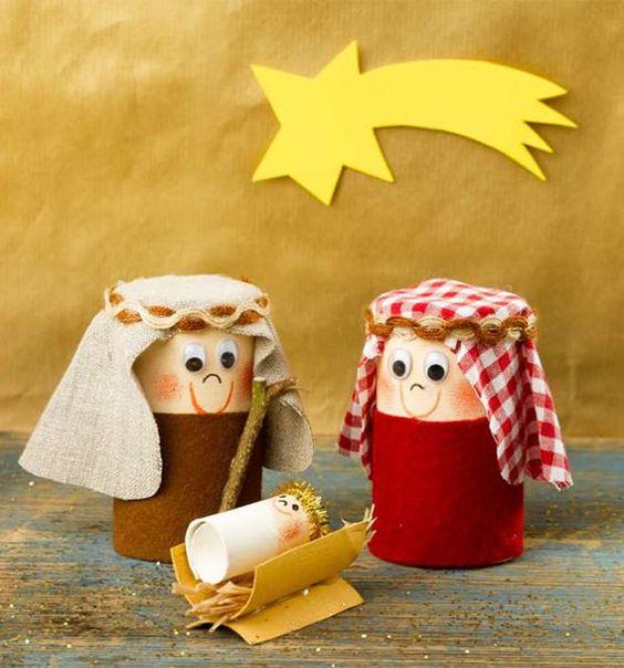 19 manualidades navide as muy creativas reciclando rollos - Manualidades con rollos de papel higienico navidenos ...