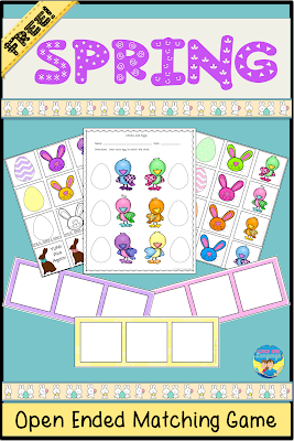Grab this open ended, free printable game and worksheet set from Looks Like Language!