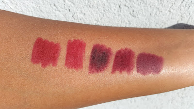 red and berry lip liner swatches - www.modenmakeup.com