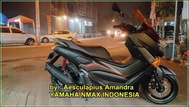 Hasil Modipikasi Keren Ban Velg Racing Cara Modifikasi Yamaha Nmax Hitam Doff Tampak Kekar Dan Sangar Terbaru Keren banget