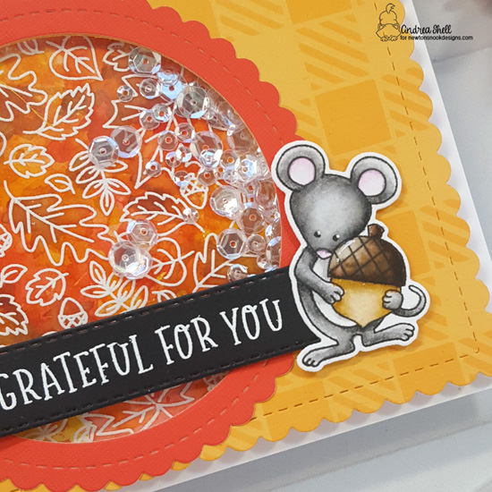 Grateful for You Card by Andrea Shell | Fall Roundabout &  Autumn Mice Stamp Sets, Circle Frames Die Set & more by Newton's Nook Designs #newtonsnook