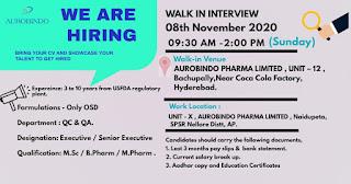 aurobindo-pharma-walk-in-jobs-for-formulation-osd