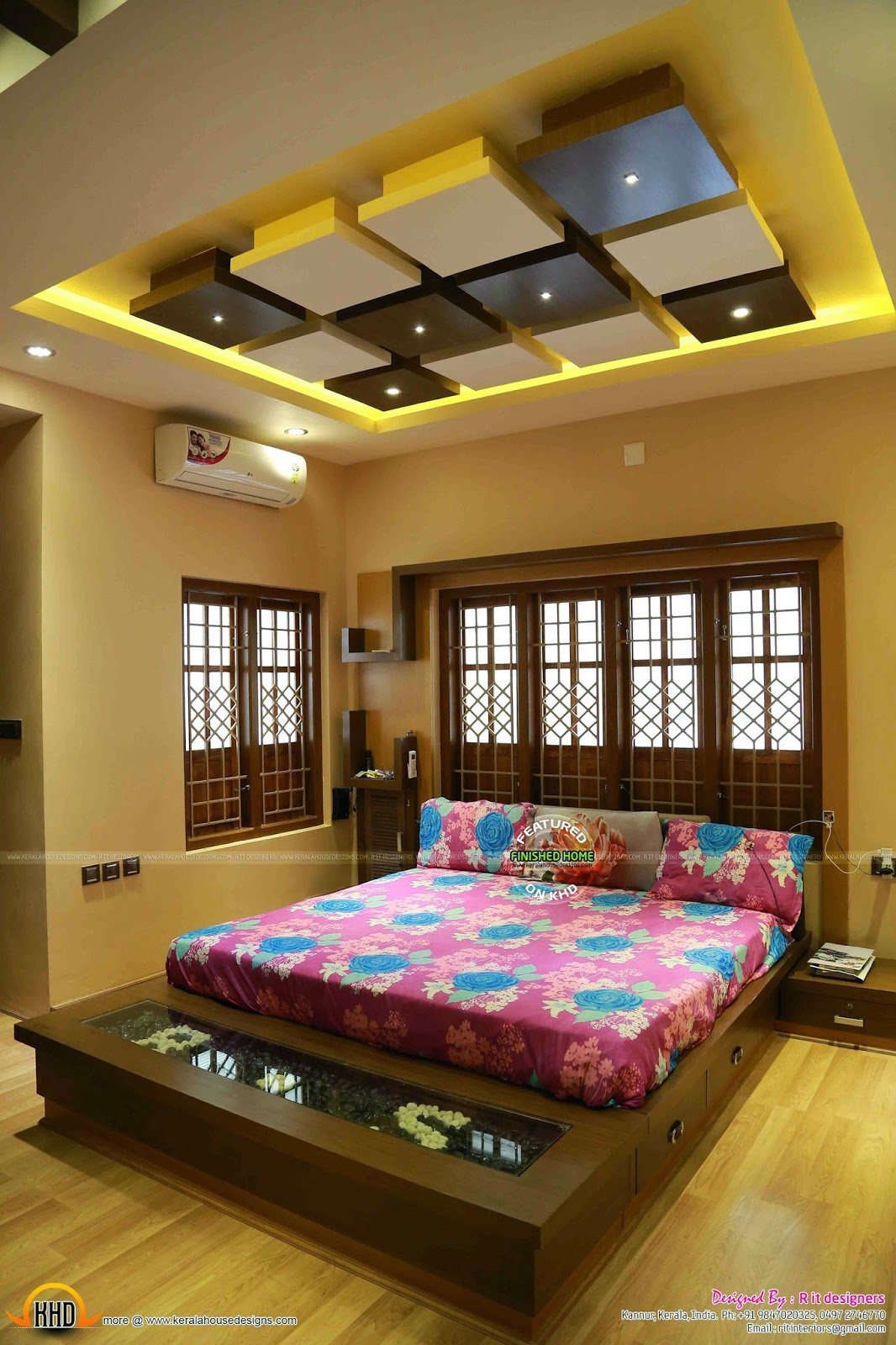 Finished Interior Designs In Kerala: Finished Interiors And Exterior Of A House In Kerala
