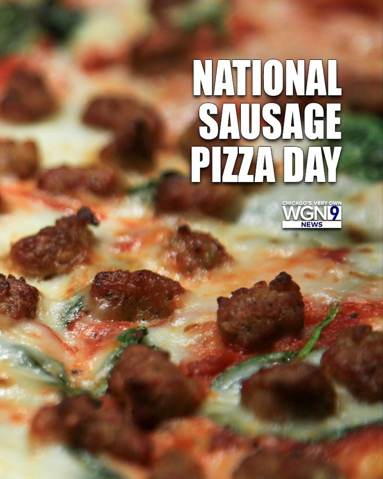 National Sausage Pizza Day Wishes Images
