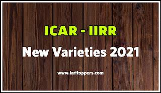 ICAR New Varieties 2021