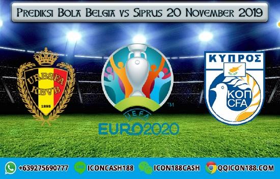 Prediksi Bola Belgia vs Siprus 20 November 2019