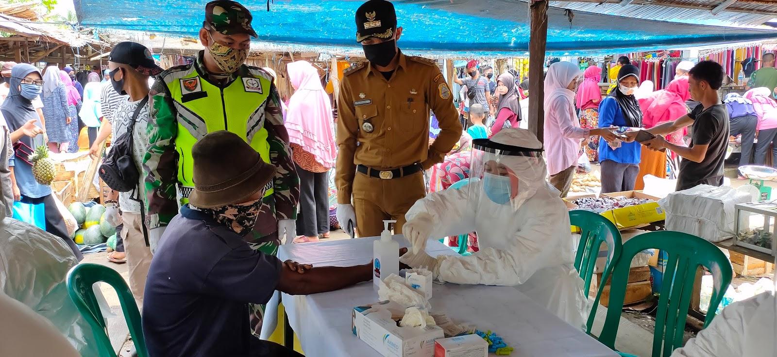 Pedagang Pasar di Tiga Kecamatan di Rapid Test, Cek Disini Hasilnya