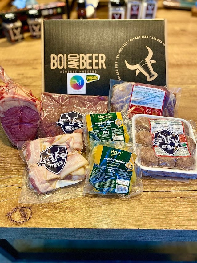Vapza, Vitor Bourguignon e Thay Milani lançam linha de kits da semana Boi and Beer