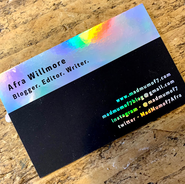 Aura Print business cards for madmumof7- back view