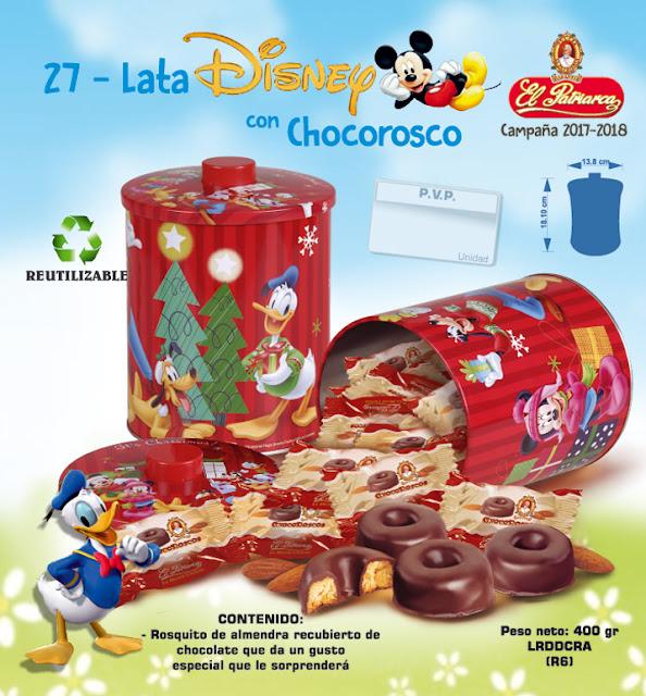 Lata Disney con Chocoroscos El Patriarca 400 g - Comercial H. Martín sa