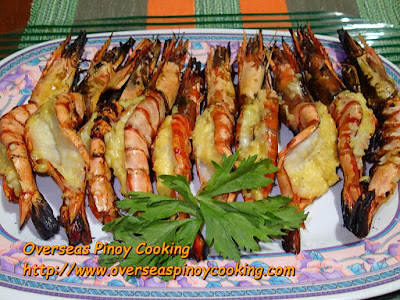 Pinoy Grilled Prawns with Garlic and Cheese
