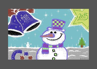 ¡ Feliz año 2015 Commodore pixelart!
