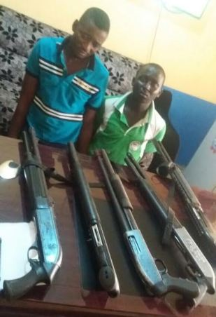 Police arrest two suspected armed robbers terrorizing Ogun state, recover 5 guns