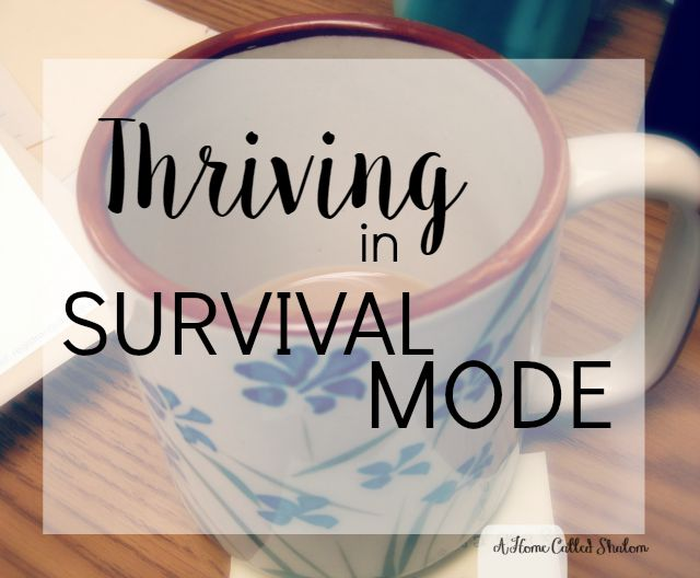 thriving in survival mode