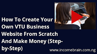 Learn how to create a vtu business website