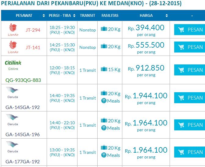 Harga Promo Tiket Pesawat Dari Pekanbaru Ke Medan Tanggal 28