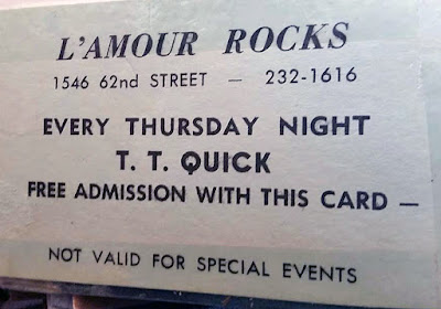 Free admission card at L'amour's for TT Quick every Thursday