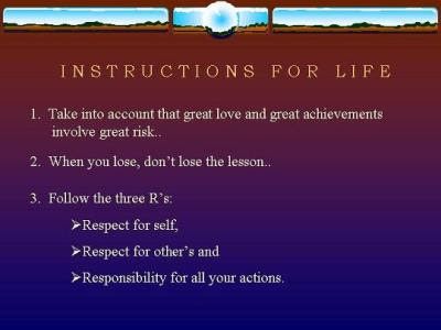 Karma - Instructions For Life
