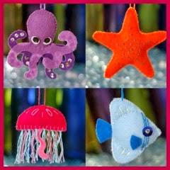 Criaturas marinas en fieltro