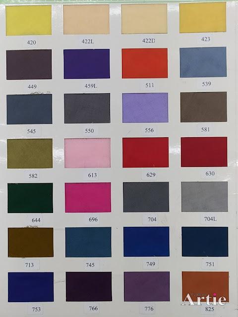 Carta warna cotton voile tudung bawal miyuki kangaroo