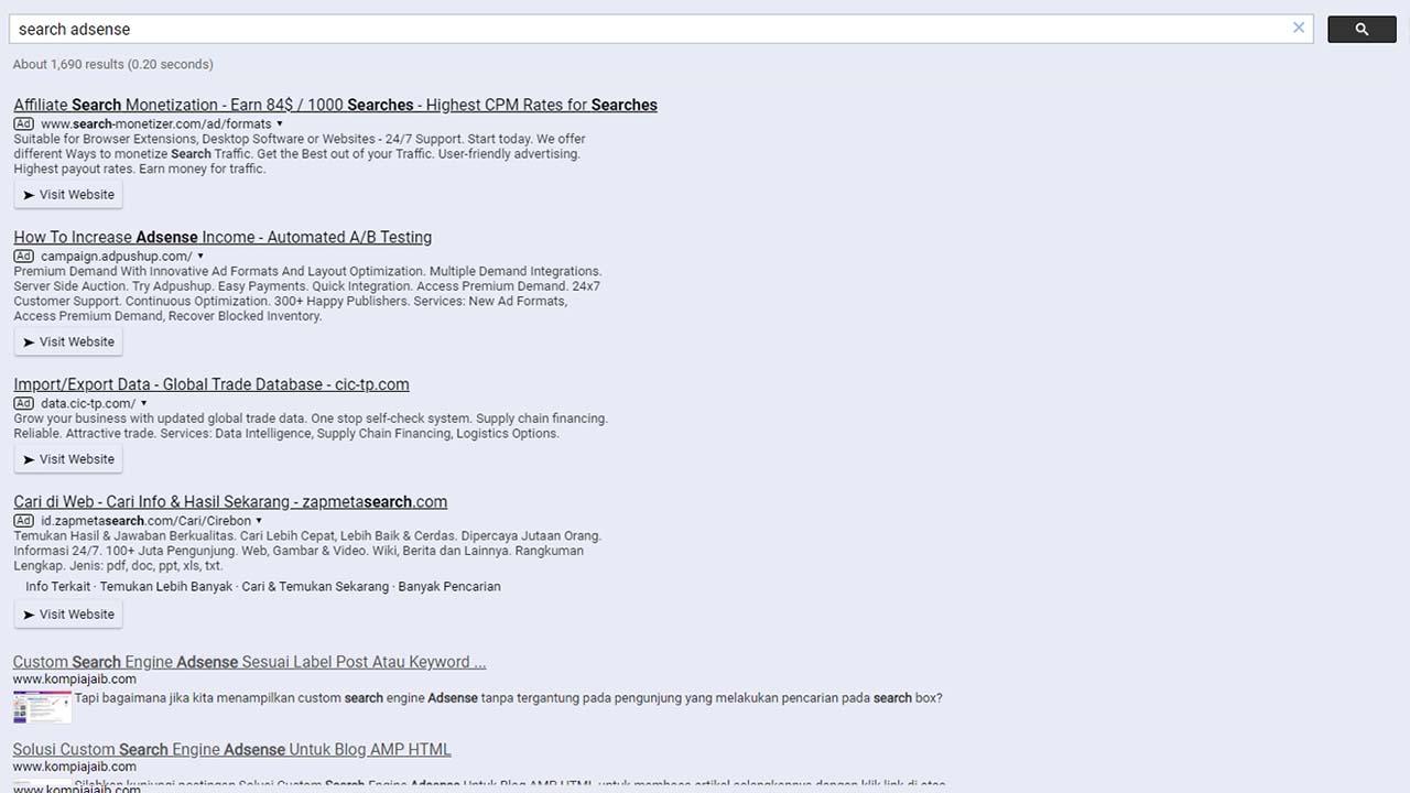Update Custom Search Engine Adsense Untuk Blog AMP 2020