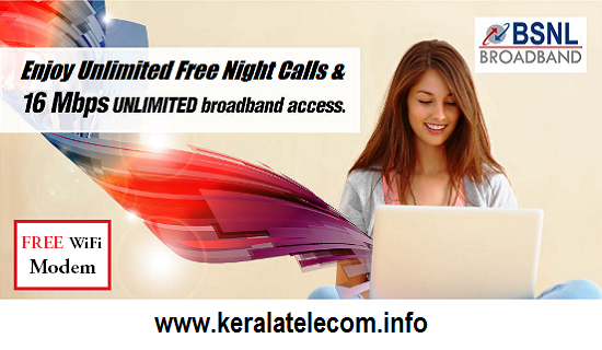 BSNL launches New High Speed Unlimited Broadband Plans having higher FUP limit in all the circles from 15th February 2016 on wards