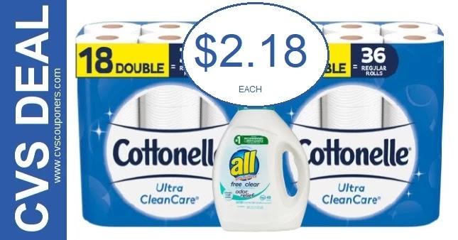 Cottonelle Bath Tissue CVS Deal 5-30-6-5