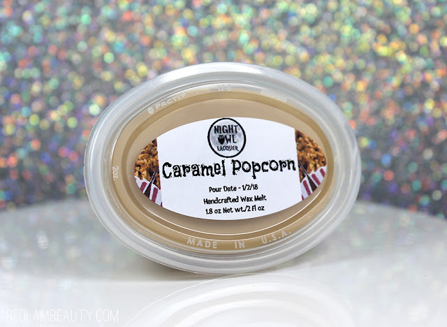 Night Owl Lacquer Caramel Popcorn Wax Melt | Polish Pickup February 2018 | Sugar Rush!