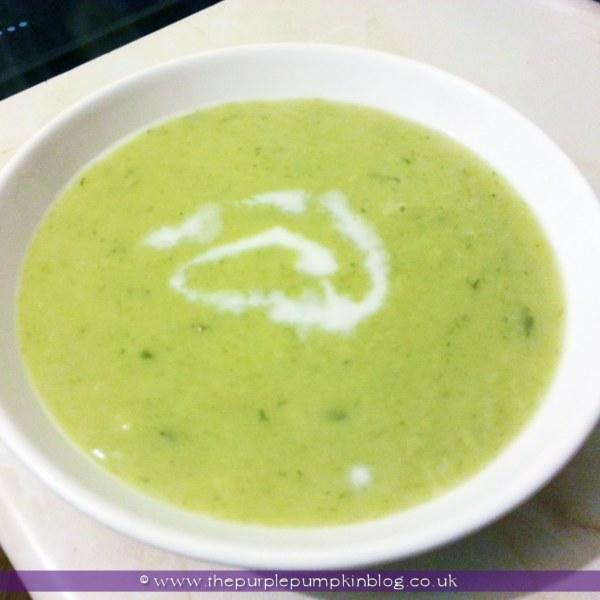 Leek & Potato Soup at The Purple Pumpkin Blog