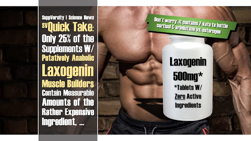 Quick Take: Only 25% Putatively Anabolic Laxogenin Supps Contain Measurable Amounts of the Alleged Muscle Builder