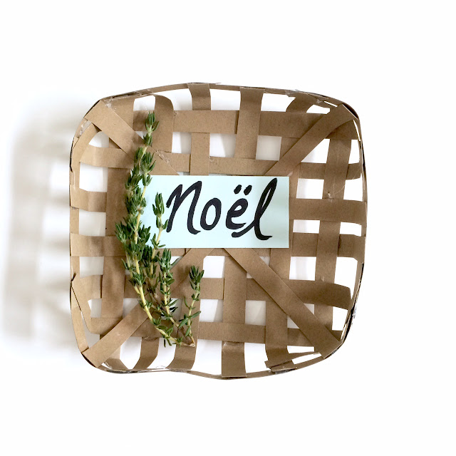 DIY Mini Tobacco Basket Placecard