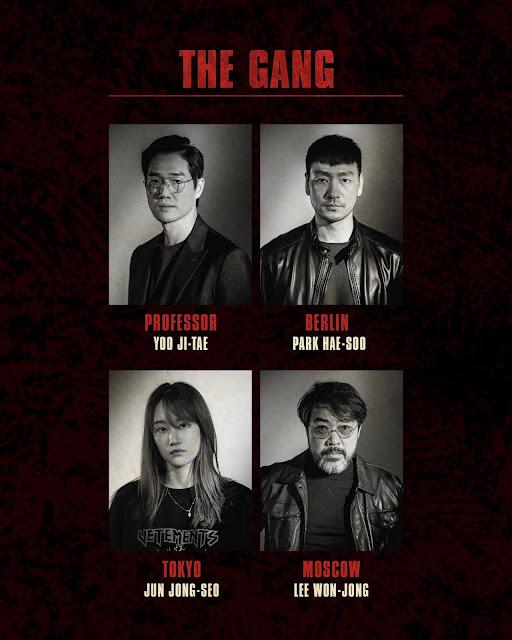 Remake coreano de la serie La Casa de Papel, actores principales