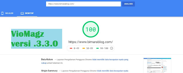 Template Blog terbaru 2020 PageSpeed Insights 100%
