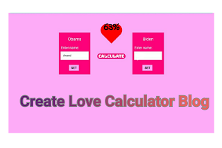 Online Love Calculator Blogger Script Download (Premium+Direct Link)
