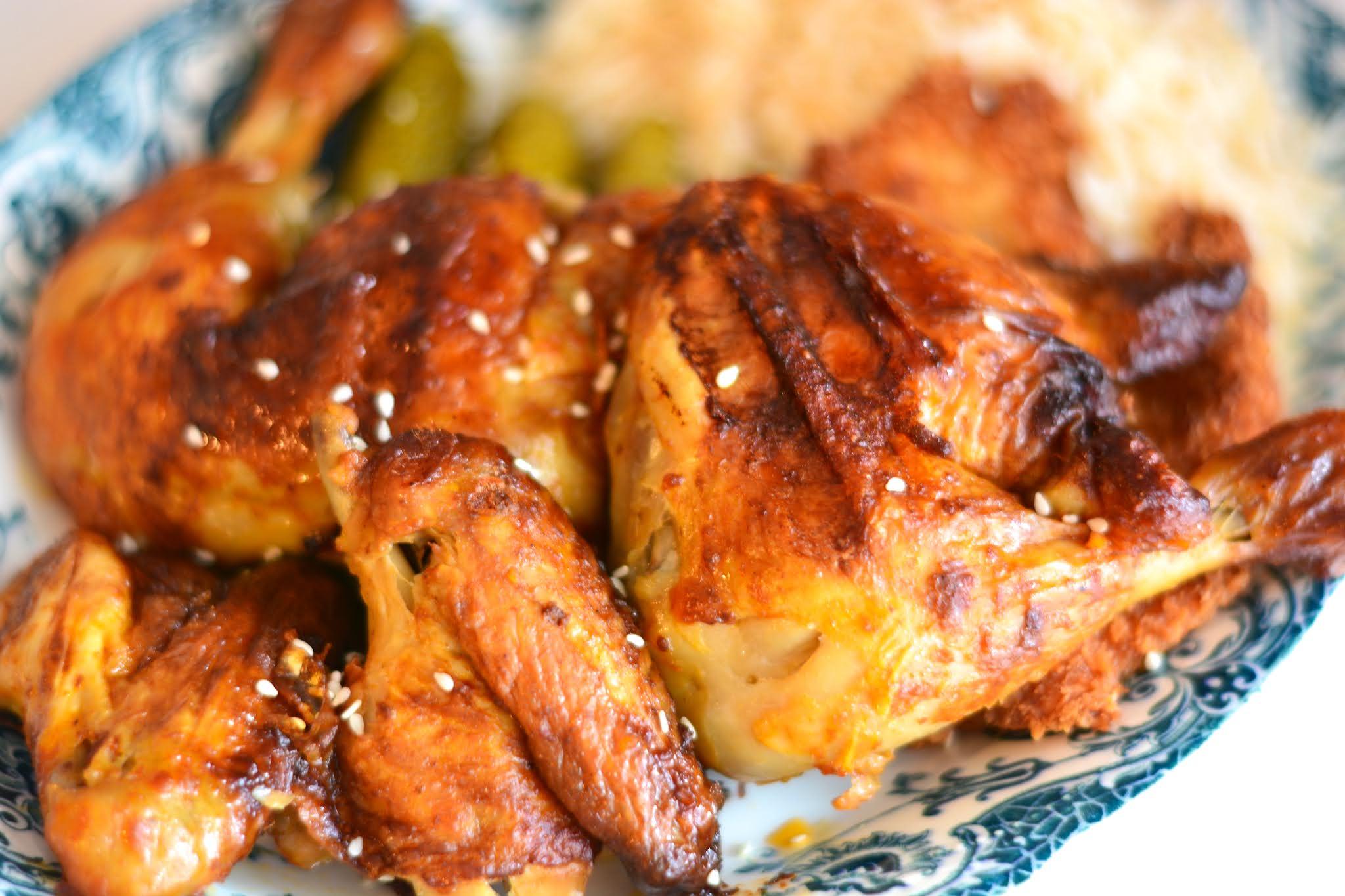Maślany, ziołowo-czosnkowy pieczony kurczak