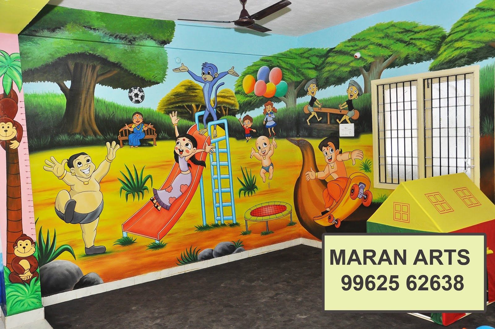 kids wall painting & cartoon wall art for play schools in chennai ...