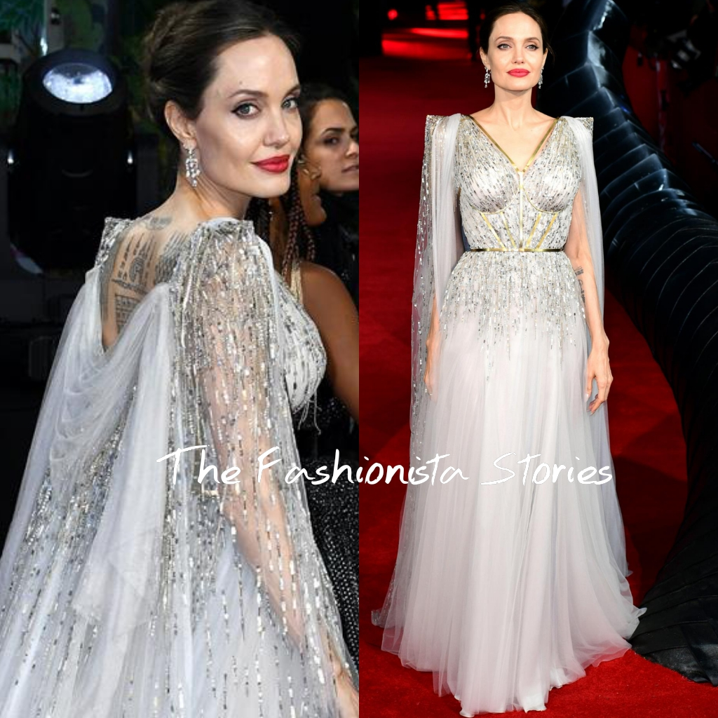 Angelina Jolie In Ralph Russo Couture At The Maleficent