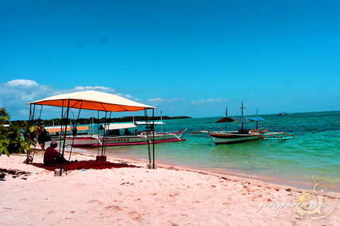 White beachfront in Maniwaya Island in Marinduque