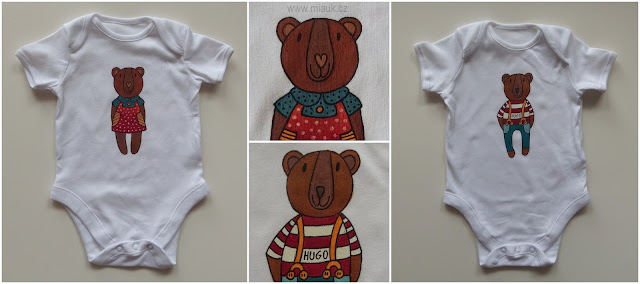 medvídek malované bodýčko