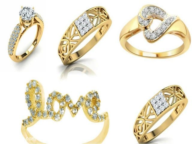 خواتم ذهب رقيقه جدا 13 | Simple gold rings 13