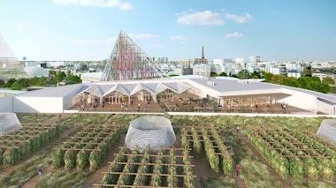 La granja urbana más grande del mundo está en una azotea de Paris Expo Porte de Versailles