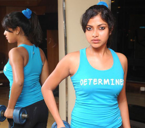 Amala Paul in gym