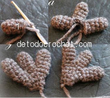 patas búho mochila crochet