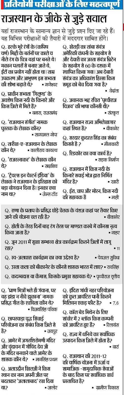 GK in Hindi - General Knowledge in Hindi Quiz 2018 Set 06