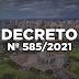 Novo decreto é publicado pela Prefeitura de Maringá reforçando medidas do decreto do Governo do Paraná