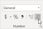 decimal places in excel