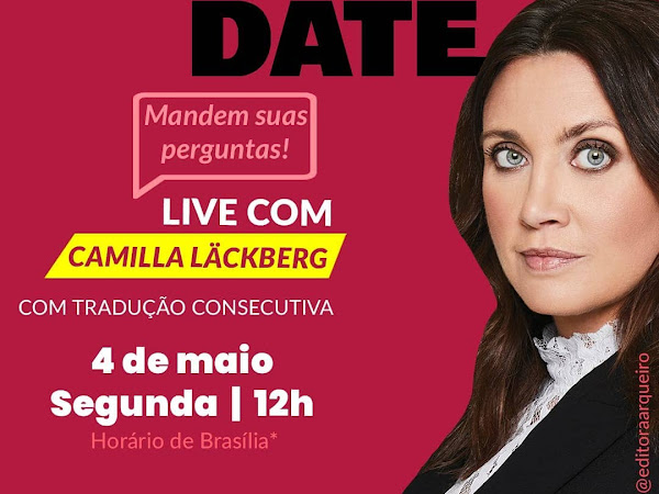 Live exclusiva com Camilla Läckberg