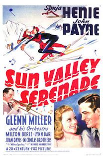 Cartel de la película Sun Valley Serenade de 1941, con música de Glenn Miller