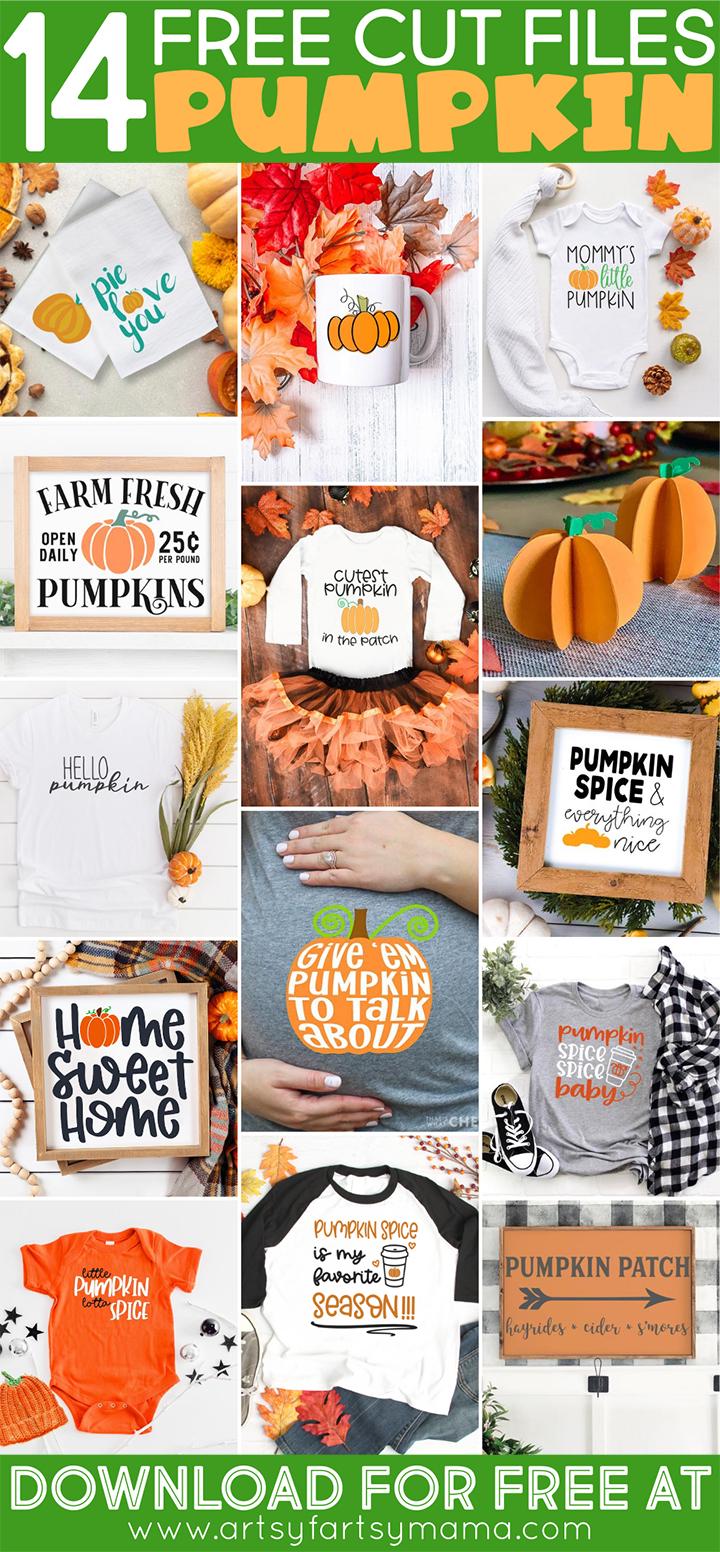 14 Free Pumpkin-Themed Cut Files